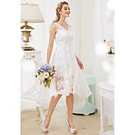 Princess Do V Asymetrické Krajka Svatební šaty s Aplikace podle LAN TING BRIDE®