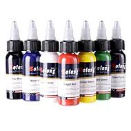"""7 × 30 מ""""ל צבעים וראייטי דיו קעקוע קלאסי פיגמנט הקעקוע גדר צבע צבעי איפור"""