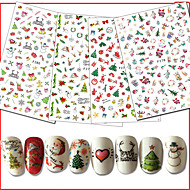 Χαμηλού Κόστους Χριστούγεννα Nail Art-10pcs/set Χριστουγεννιάτικα στολίδια / Αυτοκόλλητο καρφιών Τα αυτοκόλλητα των νυχιών / Χριστούγεννα Σχεδίαση Νυχιών