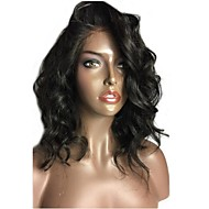 150% High Density Wavy Short Bob Wig Virgin Brazilian Human Hair Glueless 13x6 Deep Parting Lace Front Wig Natural Wave Bob Lace Front Wig