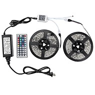 cheap -1 Set Led Light Strip Kit Waterproof 72W 5050 10M(2*5M) 600leds RGB 60leds/m with 44key Ir Controller and 6A Power Supply(UL) AC100-240V