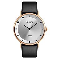 SKMEI Heren Dress horloge Modieus horloge Polshorloge Japans Kwarts Kalender Waterbestendig Leer Band Cool Luxueus Elegante horloges Zwart