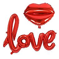 2 stuks / set kleine liefdesbrieven folie ballon trouwfeest decoratie