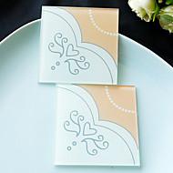 brude kjole design glasscoaster - 2pcs / box - brudgom og brud tema beter gaver ®