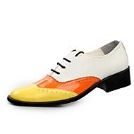 Masculino sapatos Micofibra Sintética PU Primavera Outono Sapatos formais Oxfords Cadarço Para Casual Festas & Noite Preto Amarelo