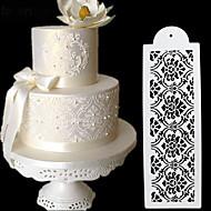 Moldes de bolo de uso diário plásticos para decoração de bolo, ferramenta de cozimento
