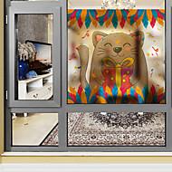 tanie סרטים ומדבקות לחלון-Zwierzę Święta Bożego Narodzenia Naklejka okienna, PVC/Vinyl Materiał Dekoracja okna Salon