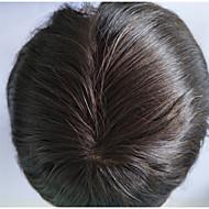 miesten toupee 2 # väri luonnollinen hiusraja ihmisen hiuslisäke miehille