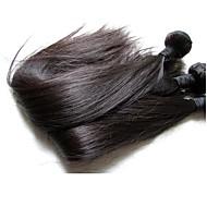 Недорогие -Натуральные волосы Реми Бразильские волосы Человека ткет Волосы Наращивание волос 10 шт. Черный