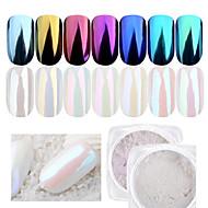 1bottle spiker skjønnhet diy skinnende speil perle glitter pulver dekorasjon for negle skjønnhet manikyr krom pigment
