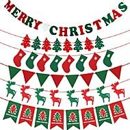 Χαμηλού Κόστους Best Selling-1pc Χριστουγεννιάτικα Διακοσμητικά Χριστουγεννιάτικα Δέντρα Καλσόν Χριστουγεννιάτικες Σημαίες, Διακόσμηση Διακοπών 20.0*15.0*4.0