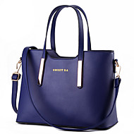 Women Bags PU Tote Rivet for Formal Office & Career All Seasons Purple Fuchsia Sky Blue Wine Royal Blue