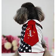 Cachorro Colete Roupas para Cães Casual Estrelas Preto Vermelho Ocasiões Especiais Para animais de estimação