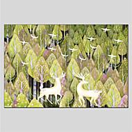 billiga Djurporträttmålningar-Hang målad oljemålning HANDMÅLAD - Djur Samtida Duk