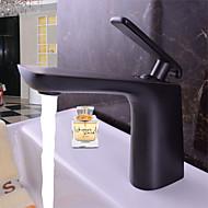 cheap Bathroom Sink Faucets-Bathroom Sink Faucet - Rainfall Black Deck Mounted Single Handle One Hole