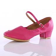 billige Moderne sko-Dame Moderne Kustomiserte materialer Høye hæler Utendørs Lav hæl Svart Fuksia Rød Kan spesialtilpasses