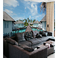 billige Tapet-Art Deco 3D Landskap Hjem Dekor Pastorale Stilen Moderne / Nutidig Tapetsering, Lerret Materiale selvklebende nødvendig Veggmaleri, Tapet