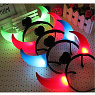 billige Bestselgere-led okse horn luminous headband leker hodeplagg for halloween fest ramdon farge