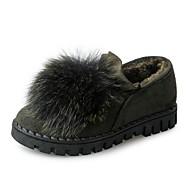Femme Chaussures Daim Automne Confort Mocassins et Chaussons+D6148 Talon Plat Bout rond Pour Décontracté Noir Orange Vert