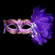 Máscara de máscara de máscara máscara de carnaval Máscara de pena de fantasia de Halloween para o Dia das Bruxas