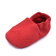 cheap Baby Shoes-Baby Shoes Suede Spring Fall Crib Shoes First Walkers Comfort Flats Gore for Wedding Casual Outdoor Party & Evening Dress Fuchsia Brown