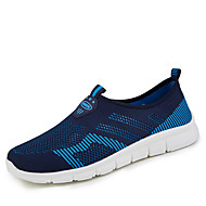 cheap Women's Sneakers-Women's Shoes PU Summer Comfort Sneakers Flat Heel Round Toe Lace-up for Athletic Casual Fuchsia Dark Grey Blue Pink Black/Red