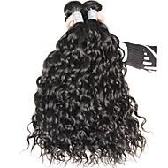 vierge Cheveux Brésiliens Tissages de cheveux humains Ondulation Prononcée Extensions de cheveux 3 Pièces Noir