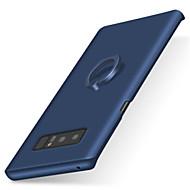 お買い得  携帯電話ケース-ケース 用途 Samsung Galaxy Note 8 Note 5 バンカーリング つや消し バックカバー 純色 ハード PC のために Note 8 Note 5 Note 4 Note 3