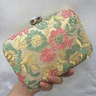 baratos Clutches & Bolsas de Noite-Mulheres Bolsas Courino Bolsa de Festa Bordado / Renda Dourado