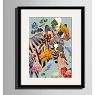 billige Innrammet kunst-Blomstret/Botanisk Dyr fantasi Innrammet Lerret Innrammet Sett Veggkunst,PVC Materiale med ramme For Hjem Dekor Rammekunst Stue Kjøkken