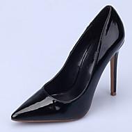 お買い得  大きいサイズ/小さいサイズ 靴-女性用 靴 エナメル 春 秋 ベーシックサンダル ヒール スティレットヒール ポインテッドトゥ のために ドレスシューズ パーティー レッド グリーン ブルー グリーンとブルー ヌード