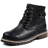baratos Sapatos Masculinos-Homens Botas de Neve Couro Outono / Inverno Botas Botas Curtas / Ankle Preto / Marron
