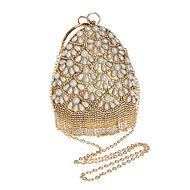 cheap Bags-Women's Bags Polyester Evening Bag Crystals / Pearls for Event / Party / Formal Black / Silver / Red