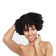 前のループかぎ針編みの三つ編み ヘアブレイズ ケンジーカール 8 インチ ジャマイカン・バウンスヘア 100%カネカロン髪 100%カネカロンヘア ブラック ダークブラウン ブラック/ストロベリーブロンド ブラック/バーガンディ ブレイズヘア ヘアエクステンション