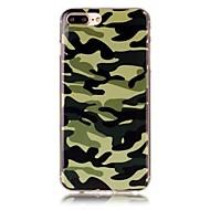 Käyttötarkoitus iPhone X iPhone 8 kotelot kuoret Kuvio Takakuori Etui Armeijatyyli Pehmeä TPU varten Apple iPhone X iPhone 8 Plus iPhone