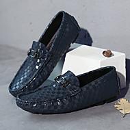 お買い得  大きいサイズ/小さいサイズ 靴-男性用 靴 ナパ革 秋 / 冬 モカシン ローファー&スリップアドオン ブラック / Brown / ブルー / パーティー