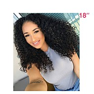halpa -Naisten Aitohiusperuukit verkolla Brasilialainen Aidot hiukset Lace Front 130% Tiheys perverssi Peruukki Musta Lyhyt Keskikokoinen Pitkä