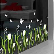 Blomstret Tapet til Hjemmet Moderne Tapetsering , PVC/Vinyl Materiale Selvklebende bakgrunns , Tapet