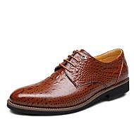 Χαμηλού Κόστους Imbettuy®-Ανδρικά Τα επίσημα παπούτσια Δέρμα Φθινόπωρο / Χειμώνας Ανατομικό Oxfords Μαύρο / Καφέ / Γάμου / Πάρτι & Βραδινή Έξοδος / Φόρεμα Παπούτσια