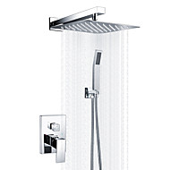 cheap Shower Faucets-Modern/Contemporary Shower System Rain Shower Handshower Included Ceramic Valve One Hole Chrome, Shower Faucet