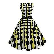 Žene Vintage Ulični šik Swing kroj Haljina Duga Do koljena