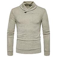 Masculino Camiseta Casual Moda de Rua Sólido Poliéster Colarinho de Camisa Manga Longa