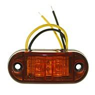 sencart 10pcs 2led amarelo led clearance lado marcador luz caminhão carro van trailers lâmpada 9-30v
