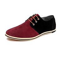 Homme Chaussures Vrai cuir Cuir Printemps Automne Chaussures formelles Oxfords Combinaison Pour Soirée & Evénement Noir Gris Rouge Kaki