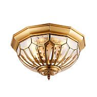 europeisk stil kobber lampe soverom lampe stue lampe idyllisk lampe rundt amerikansk pære kreativ balkong lampe korridor lampe