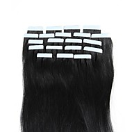 20pcs/pack 100% Tape in Human Hair Weft Extension Straight Glue Hair Weft 30-50Gram