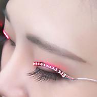 LED Lights False Eyelashes, Glowing Eyes, LED Eyelash Lights, Double Gypsum, False Eyelash Lights (Sound Control)
