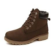 baratos Sapatos Masculinos-Homens Coturnos Couro Sintético Outono / Inverno Botas Botas Curtas / Ankle Amarelo / Verde Tropa / Castanho Escuro