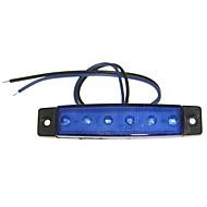sencart 12pcs 6led 2835smd kék lámpa fék oldaljelző autó motorkerékpár indikátorok dc12v