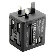 adaptor de călătorie universal 2.1a 2 porturi de încărcare USB la nivel mondial, toate într-un singur încărcător universal de perete